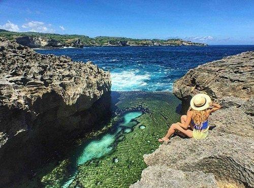 angel billabong, nusa penida, bali island, bali instagramable spot