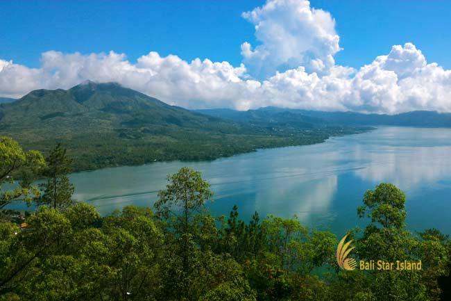 batur lake, mount batur, kintamani village