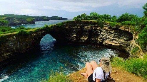 broken beach bali, nusa penida, bali island, bali instagramable spot