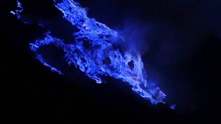 blue fire ijen, east java, tourist attraction