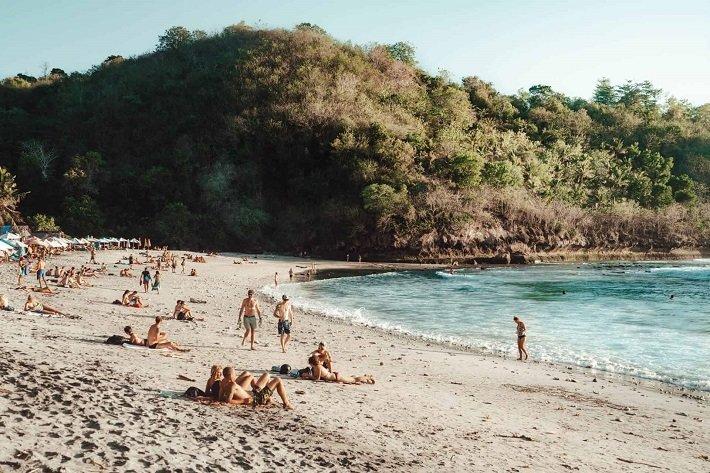 crystal bay, nusa penida, relax