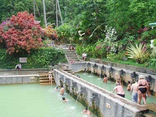 hot water spring bali, tourist attraction