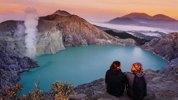 sunrise view, east java, tourist attraction