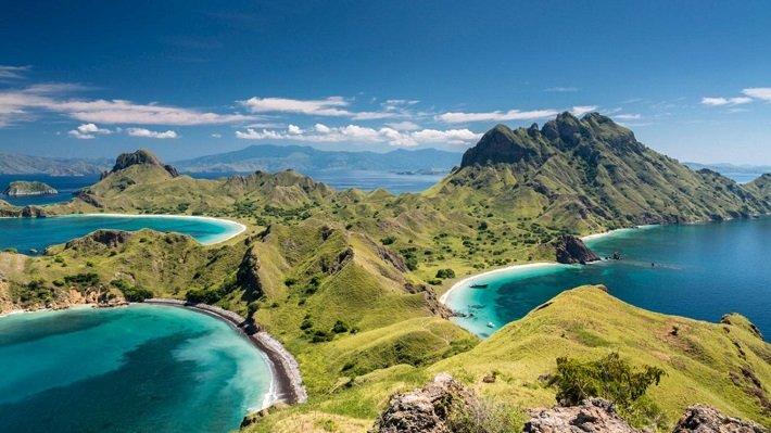 padar island, komodo island, exotic view