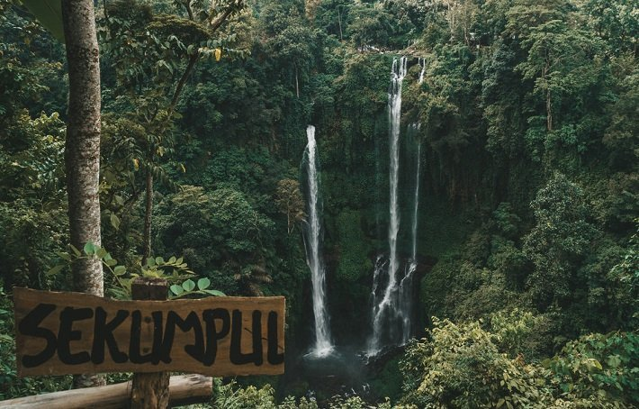 sekumpul waterfall, bali paradise, tourist attraction