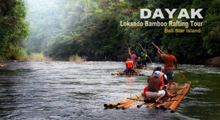 5 Days Dayak Loksado Bamboo Rafting Tour